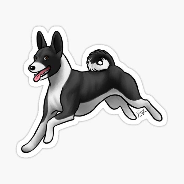 Basenji - True Black Sticker