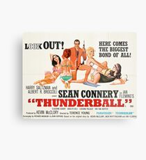 James Bond - Thunderball Movie Poster Metal Print