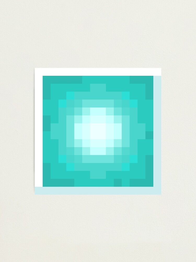 Minecraft Beacon Photographic Print By Opptitronica Redbubble