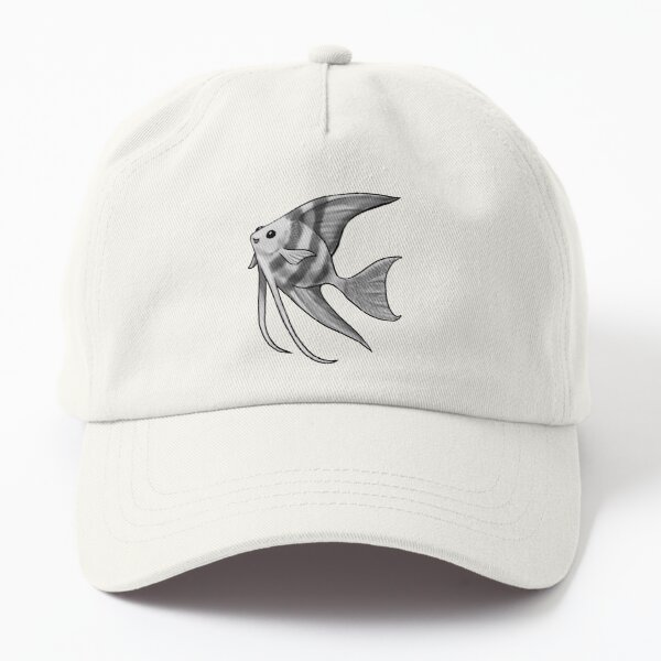 Silver Striped Angelfish Dad Hat