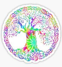 CELTIC KNOTS TREE OF LIFE - tie dye Sticker