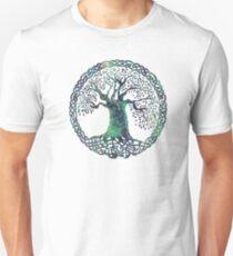 CELTIC KNOTS TREE OF LIFE - swamp midnight T-Shirt