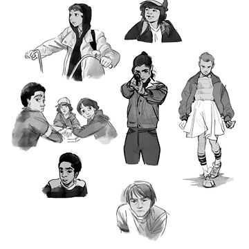Stranger Things Character Sketches by nekhebit