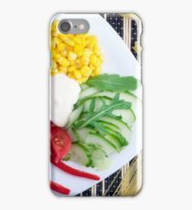 Vegetarian dish of raw vegetables and mozzarella  iPhone Case/Skin