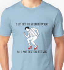 Er tut es wirklich Slim Fit T-Shirt