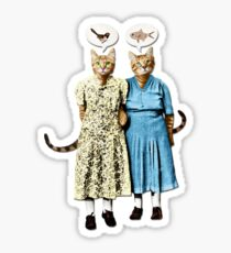Two Cool Kitties: What's for Lunch? Sticker