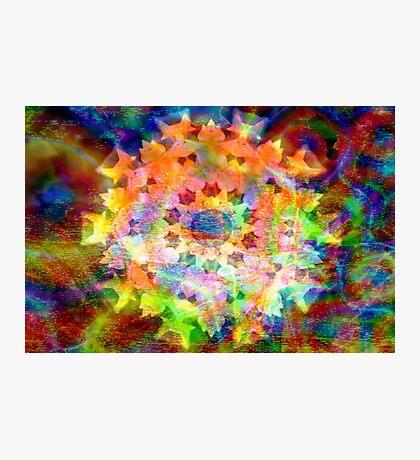 Celestial flower mandala Photographic Print