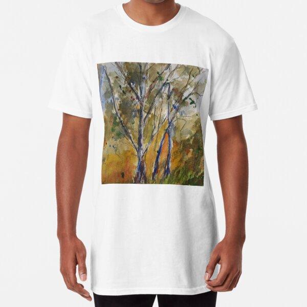 Pyalong {watercolour on canvas} Long T-Shirt