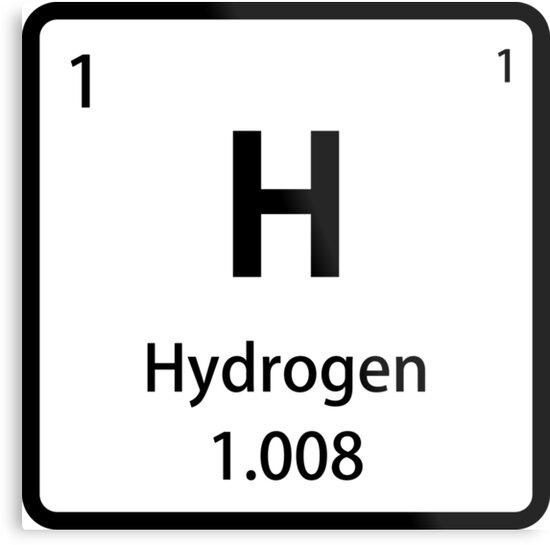 Lienzos metlicos azulejo de elemento de hidrgeno negro tabla azulejo de elemento de hidrgeno negro tabla peridica de sciencenotes urtaz Choice Image