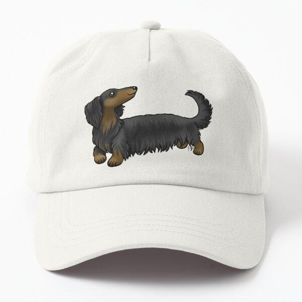 Long Haired Dachshund - Black and Tan Dad Hat