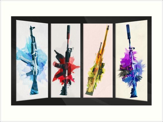 «CS: GO Acuarela armas v2» de Hinata Lexy Lin