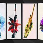 CS:GO Watercolor weapons v2 by Hinata Lexy Lin