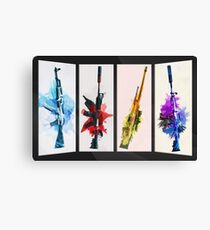 CS:GO Watercolor weapons v2 Canvas Print