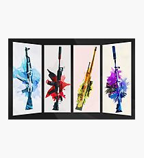 CS:GO Watercolor weapons v2 Photographic Print