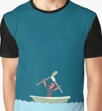 Angry rowing man Graphic T-Shirt