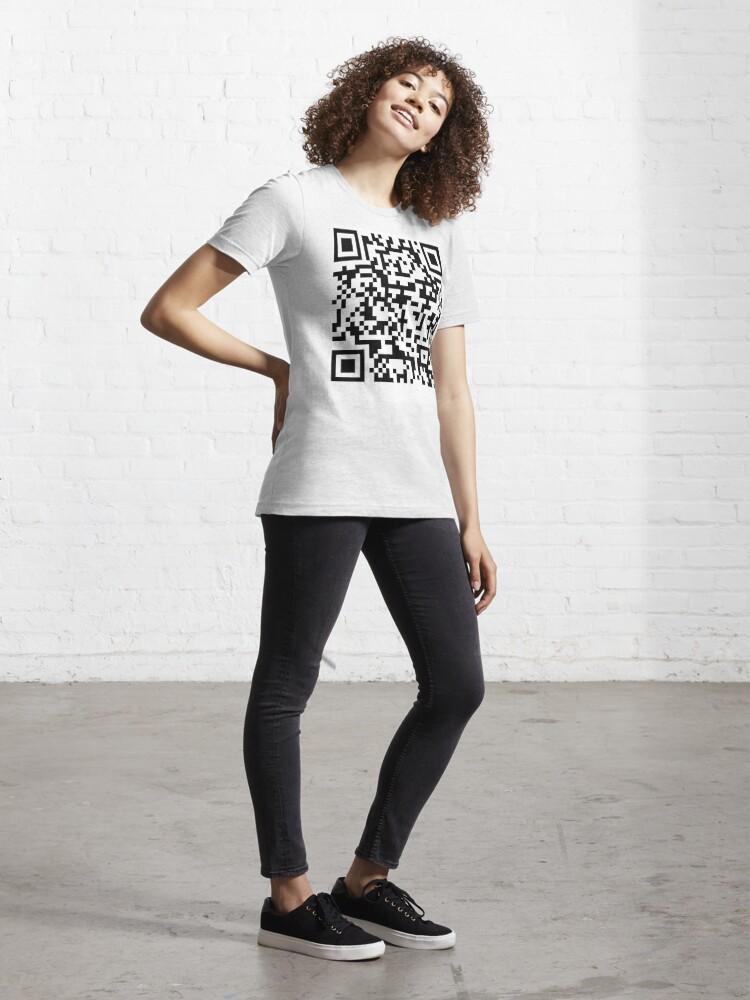 Alternate view of Rick Roll QR Code Essential T-Shirt