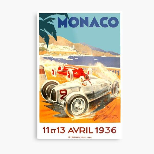 Monaco 1934 motor racing advertising poster reproduction.