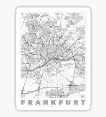 Frankfurt Map Line Sticker