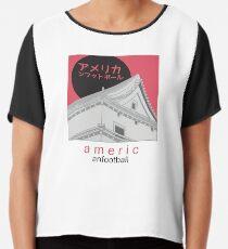 Japanese American Football Chiffon Top