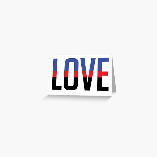 LOVE - Polyamorous Pride Greeting Card