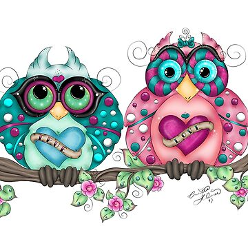 Spring Fling Owl Pair by ckdesigns
