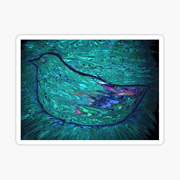 finger paint pigeon Sticker