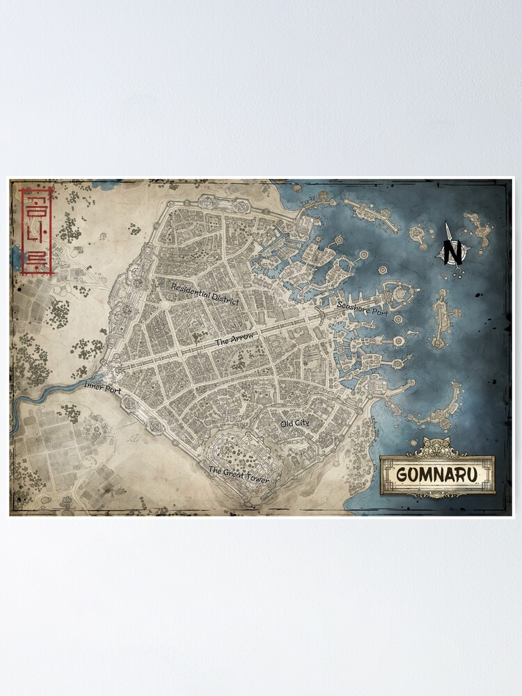 Alternate view of Map of Gomnaru Poster