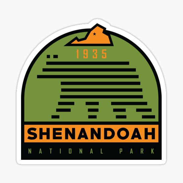 Shenandoah National Park graphic Sticker