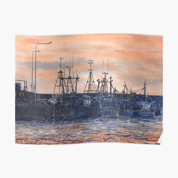 Pittenweem Harbour at Sunset Poster