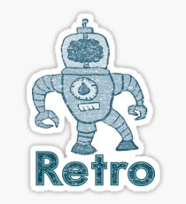 Retro Robot  Sticker