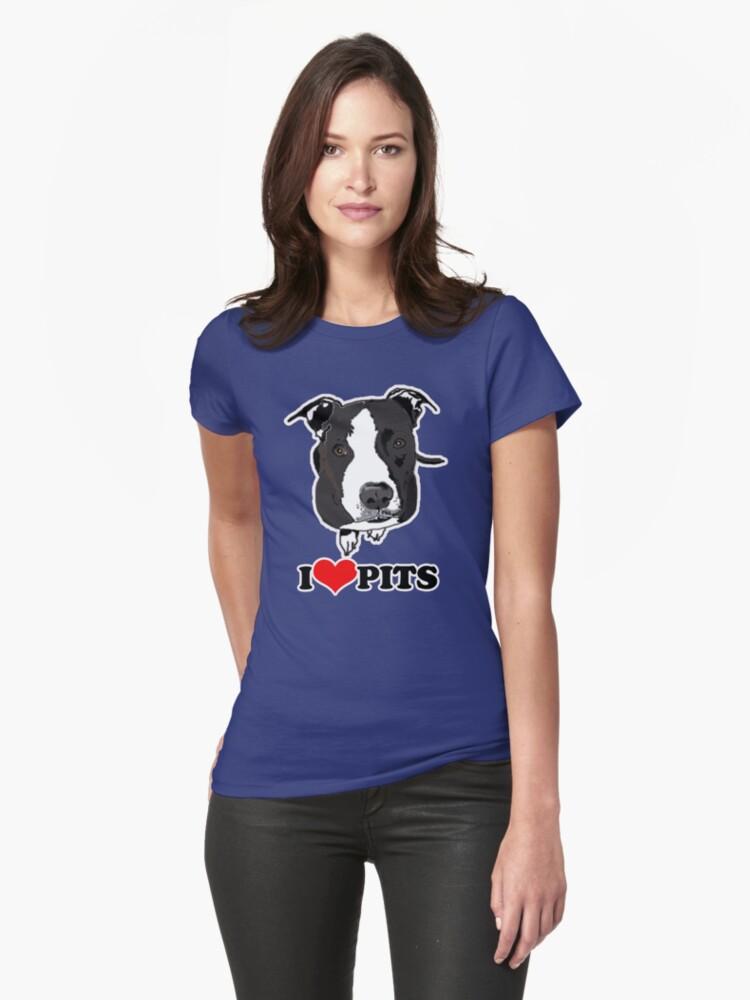 I Love Pit Bulls by JessDesigns
