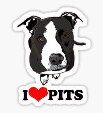 I Love Pit Bulls Sticker