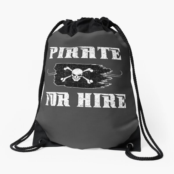 Pirate For Hire Drawstring Bag