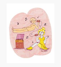 Girl and Ghost- Mellow Yellow Photographic Print
