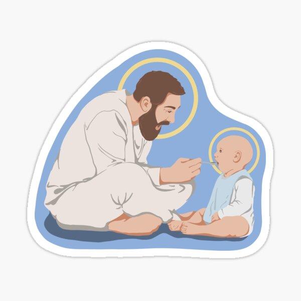 St. Joseph and Baby Jesus Sticker