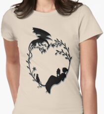 Ex Libris - Black with shadow Women's Fitted T-Shirt