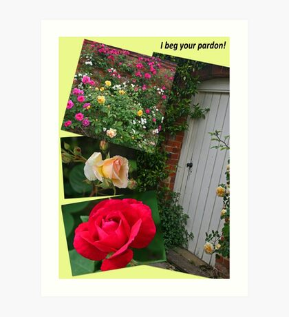 Rose Garden Collage Art Print