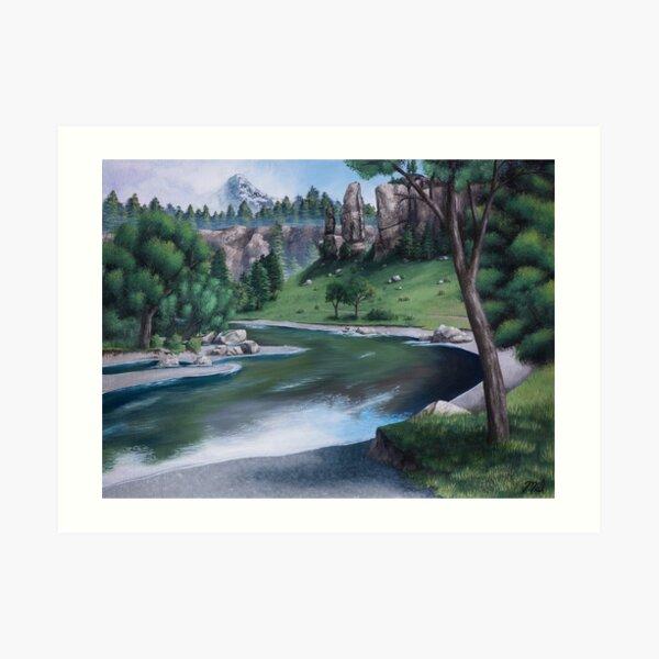 Horseshoe Overlook Art Print