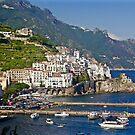 Along the Amalfi Coast, Italy by Barbara  Brown