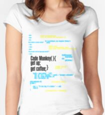 Code Monkey Get Coffee Women's Fitted Scoop T-Shirt