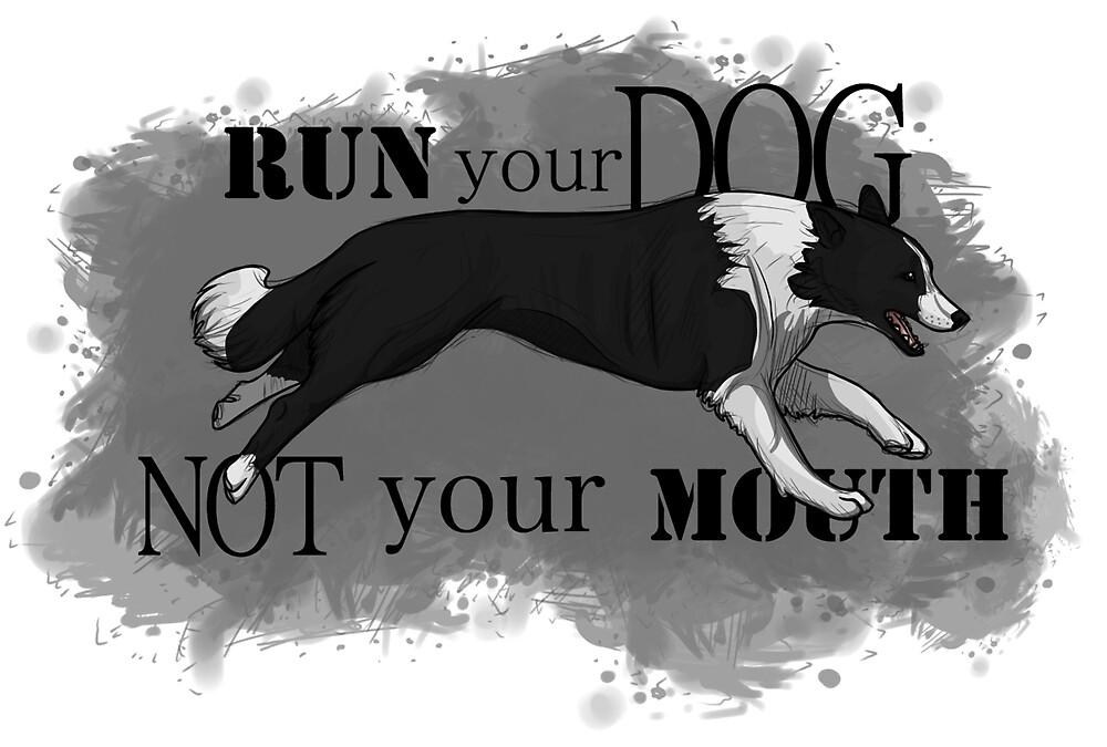 Run Your Dog Not Your Mouth Border Collie by Rhett J.