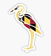 Great Blue Heron - Maryland Flag Sticker