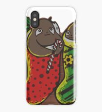 Sloths in Stockings iPhone Case/Skin