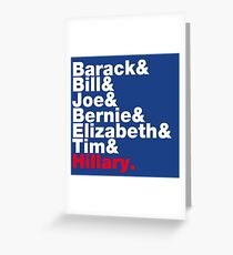 Democrats Helvetica Greeting Card