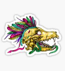 Wolf Skull Sticker