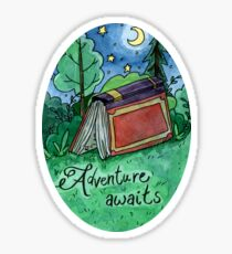 Adventure Awaits Watercolor Sticker Sticker