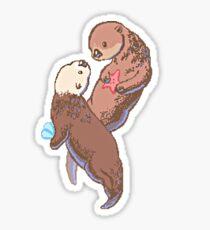 Otterly in love Sticker