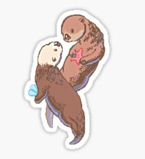 Otterly in love Sticker
