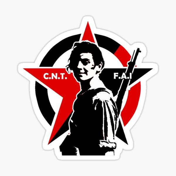 MARINA GINESTÀ / CIVIL WAR ANTIFASCIST MILICIAN Sticker