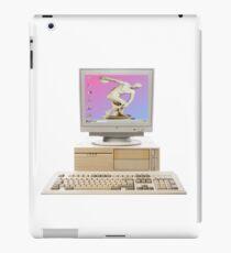 Vaporwave Statue on Vintage PC iPad Case/Skin